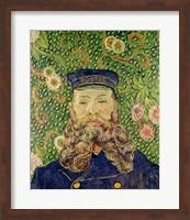 Framed Portrait of the Postman Joseph Roulin, 1889