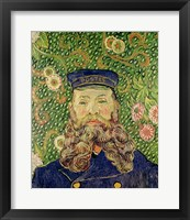 Portrait of the Postman Joseph Roulin, 1889 Framed Print