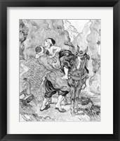 Framed Good Samaritan, after Delacroix, 1890