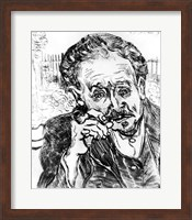 Framed Man with the Pipe, Portrait of Doctor Paul Gachet