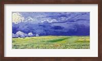 Framed Wheatfields under Thunderclouds, 1890