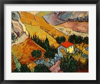 Framed Landscape with House and Ploughman, 1889