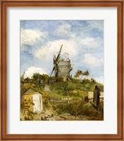 Framed Le Moulin de Blute-Fin, Montmartre, 1886