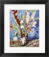 Framed Vase with Gladioli