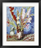 Framed Vase with Gladioli