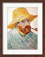 Framed Self Portrait, 1888 wearing a hat