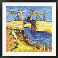 Framed Le Pont de Langlois a Arles, 1888