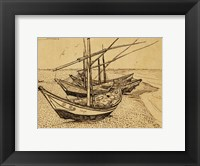 Framed Fishing Boats on the Beach at Saintes-Maries-de-la-Mer, 1888
