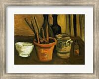 Framed Still Life of Paintbrushes in a Flowerpot, 1884