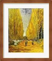 Framed L'Allee des Alyscamps, Arles, 1888