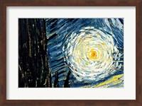 Framed Starry Night, June 1889 Detail D