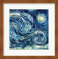 Framed Starry Night, June 1889 Detail B