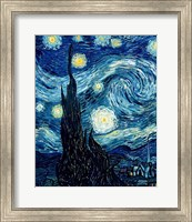 Framed Starry Night, June 1889 Detail A