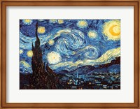 Framed Starry Night, June 1889