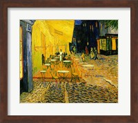 Framed Cafe Terrace, Place du Forum, Arles, 1888 (detail 2)