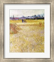 Framed Wheatfield with Sheaves, 1888