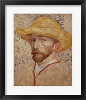 Framed Self Portrait with Straw Hat, 1887