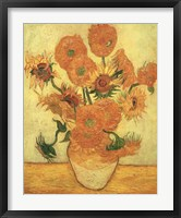 Framed Sunflowers, 1889