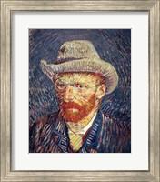 Framed Self Portrait with Felt Hat