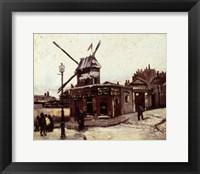 Framed Moulin de la Galette, 1886