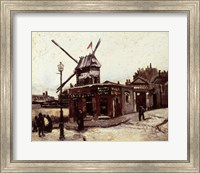 Framed Moulin de la Galette, 1886