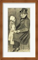 Framed Seated Man with his Daughter, 1882