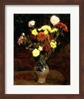 Framed Still Life of Flowers