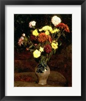 Framed Still Life of Flowers
