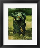Framed Peasant Woman Digging, 1885