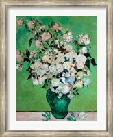 Framed Vase of Roses, 1890