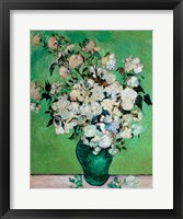 A Vase of Roses, 1890 Framed Print