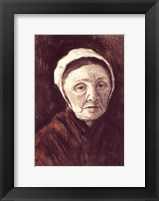 Framed Head of an old woman in a Scheveninger Cap