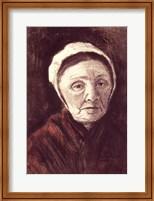 Framed Head of an old woman in a Scheveninger Cap