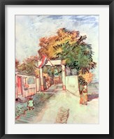 Framed French Street Scene