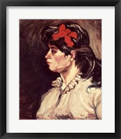 Framed Portrait of a Woman with a Red Ribbon, 1885