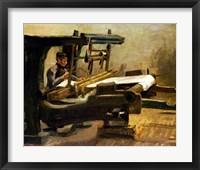 Framed Weaver at the Loom, Facing Right, 1884