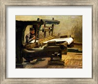Framed Weaver at the Loom, Facing Right, 1884