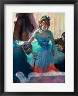 Framed Dancer in her dressing room