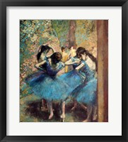 Framed Dancers in Blue, 1890