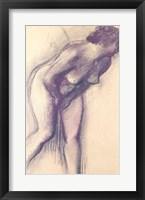 Framed Female Standing Nude