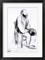 Framed Study for a portrait of Manet