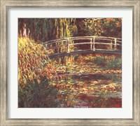Framed Le Bassin aux Nympheas: Harmonie Rose