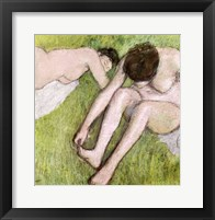 Framed Two Bathers on the Grass