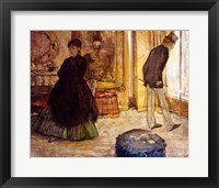 Framed Interior with Two Figures, 1869