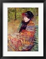 Portrait of Mlle C. Lydia Cassatt, 1880 Framed Print