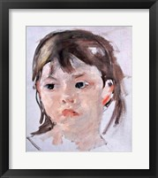Head of a Young Girl Framed Print