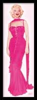 Framed Marilyn Monroe - Pink Dress