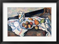 Framed Still Life of Peaches and Pears