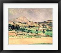 Framed Montagne Sainte-Victoire D