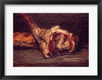 Framed Still Life of a Leg of Mutton and Bread, 1865